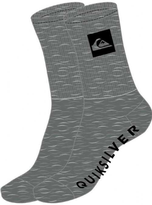 QUIKSILVER MENS SOCKS.NEW 3 PACK CREW LONG GREY UK 6 - 11 Eur 40 - 45 8S 69 SGRH
